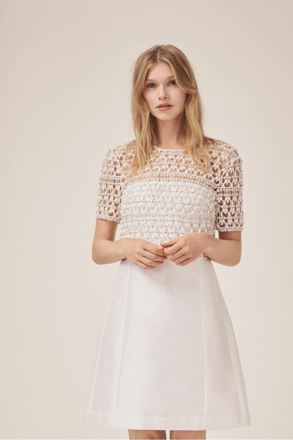Consenza Sparkle Embellished Wedding Dress - summer white