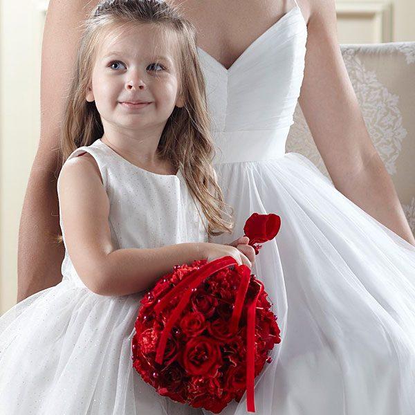 Pure at Heart Flower Girl Arrangement