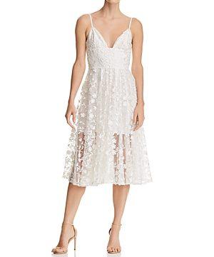 Sau Lee Daisy Illusion Midi Dress