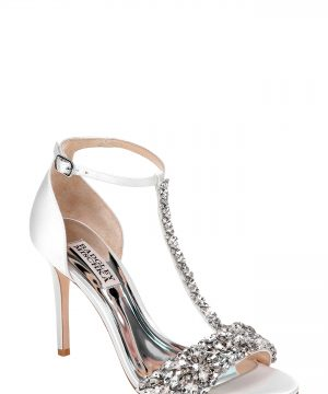 Women's Badgley Mischka Crystal Embellished Sandal, Size 6 M - Ivory