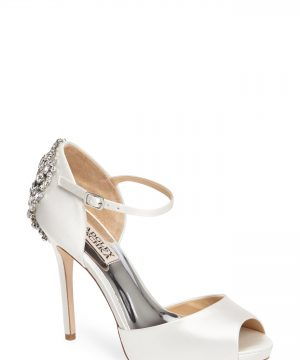 Women's Badgley Mischka 'Dawn' Crystal Back D'Orsay Pump, Size 8 M - White