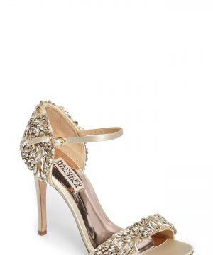 Women's Badgley Mischka Tampa Ankle Strap Sandal, Size 9 M - White