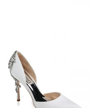 Women's Badgley Mischka Vogue Crystal Embellished D'Orsay Pump, Size 8 M - White