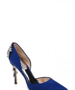 Women's Badgley Mischka Vogue Crystal Embellished D'Orsay Pump, Size 8.5 M - Blue