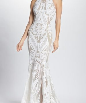 Women's Bronx And Banco Ester Halter Mermaid Gown