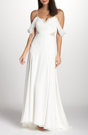 Women's Fame & Partners The Fitzgerald Cold Shoulder Gown