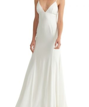 Women's Joanna August Crosby Crepe Mermaid Gown