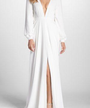 Women's Joanna August Floyd V-Neck Long Sleeve Gown