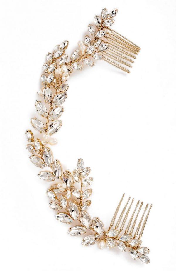 Brides & Hairpins Abrielle Crystal & Pearl Headpiece