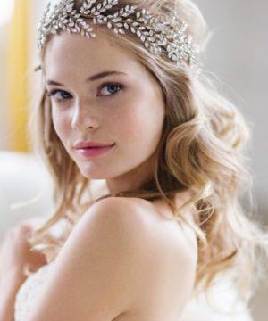 Brides & Hairpins Kira Crystal Halo & Sash
