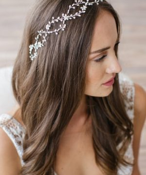 Brides & Hairpins Octavia Pearl & Jeweled Halo & Sash, Size One Size - Metallic