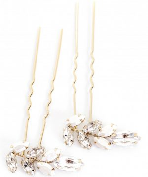 Brides & Hairpins Vanessa Set Of 2 Hair Pins, Size One Size - Metallic