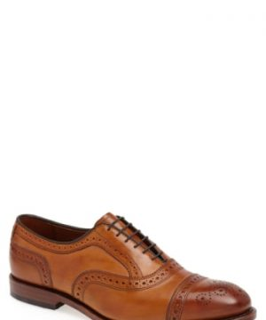 Men's Allen Edmonds 'Strand' Cap Toe Oxford, Size 11 E - Brown