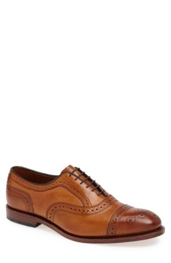 Men's Allen Edmonds 'Strand' Cap Toe Oxford, Size 11 E - Brown