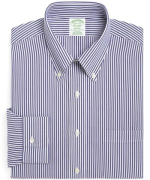 Men's Big & Tall Brooks Brothers Trim Fit Stripe Dress Shirt (3 For $207)