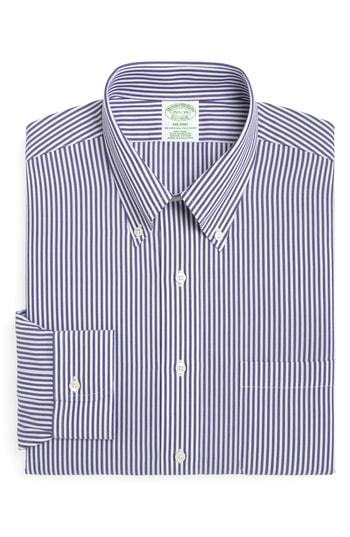 Men's Big & Tall Brooks Brothers Trim Fit Stripe Dress Shirt (3 For $207)
