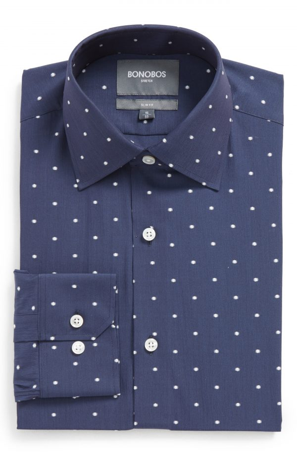 Men's Bonobos Slim Fit Dot Stretch Dress Shirt