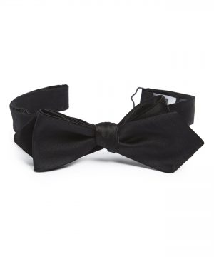 Men's Bonobos Solid Satin Silk Bow Tie, Size Regular - Black