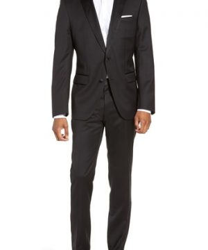Men's Boss Halven/gentry Trim Fit Wool Tuxedo