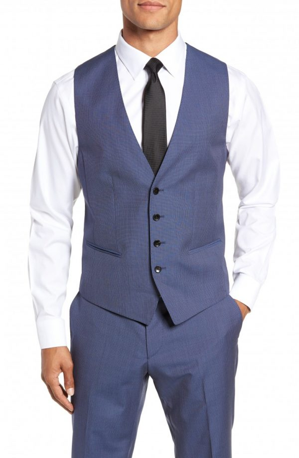 Men's Boss Huge/genius Trim Fit Solid Three Piece Wool Suit