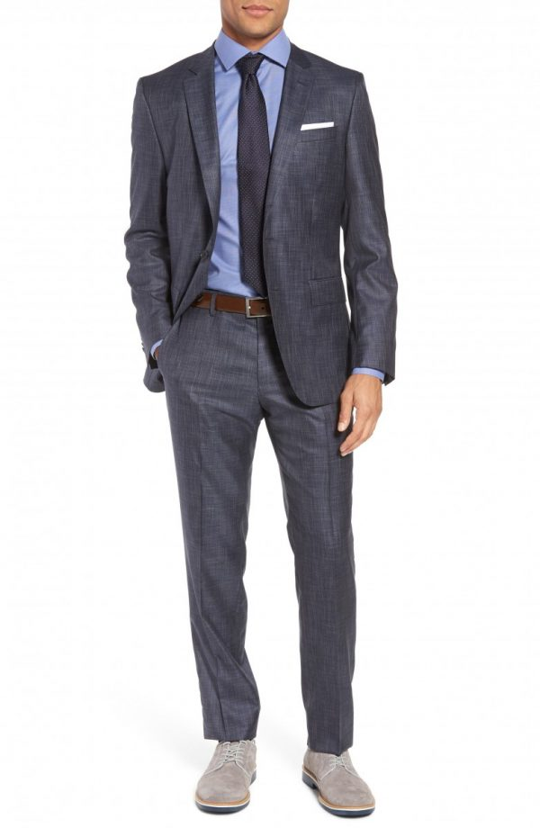 Men's Boss Huge/genius Trim Fit Wool & Silk Suit