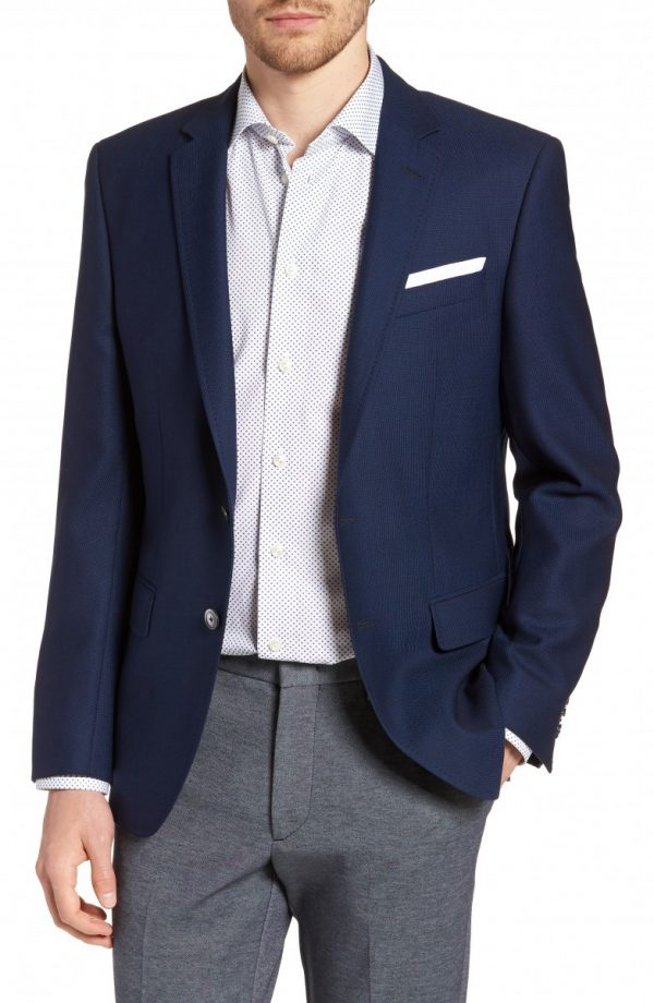Men's Boss Hutsons Trim Fit Wool Blazer