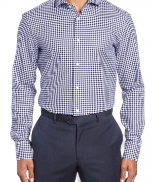 Men's Boss Jason Slim Fit Check Dress Shirt
