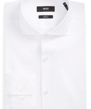 Men's Boss 'Jason' Slim Fit Solid Stretch Dress Shirt