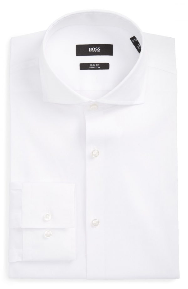 Men's Boss 'Jason' Slim Fit Solid Stretch Dress Shirt