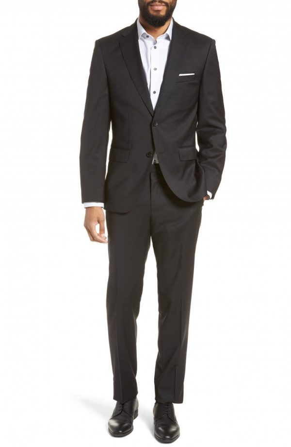 Men's Boss Johnstons/lenon Classic Fit Solid Wool Suit