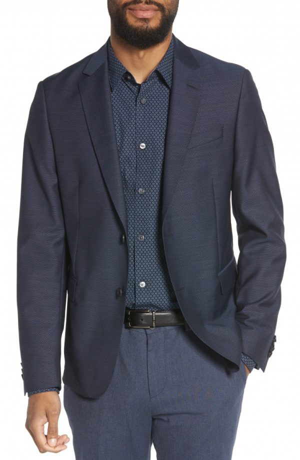 Men's Boss Nobis Trim Fit Wool Blazer