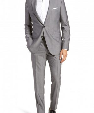 Men's Boss Novan/ben Trim Fit Solid Wool Suit