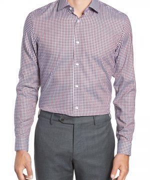 Men's Boss X Nordstrom Isaac Slim Fit Check Dress Shirt