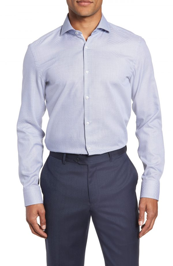 Men's Boss X Nordstrom Jerrin Slim Fit Solid Dress Shirt
