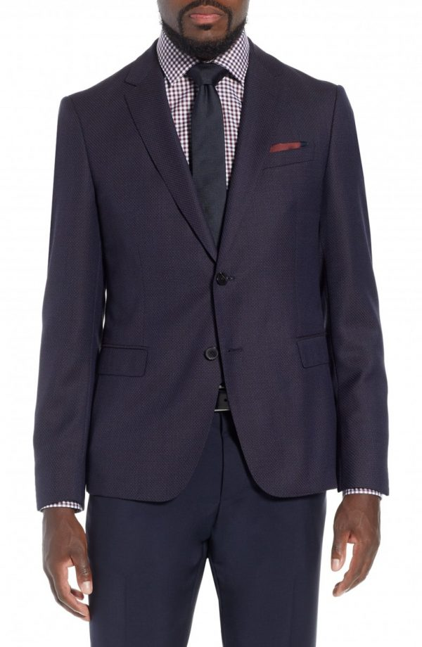 Men's Boss X Nordstrom Nobis Trim Fit Wool Blazer