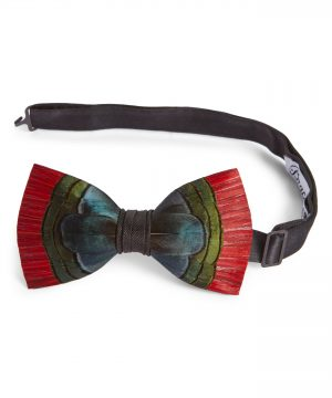 Men's Brackish & Bell Hemingway Feather Bow Tie