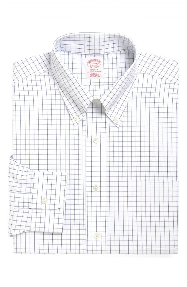 Men's Brooks Brothers Classic Fit Check Dress Shirt (3 For $207)