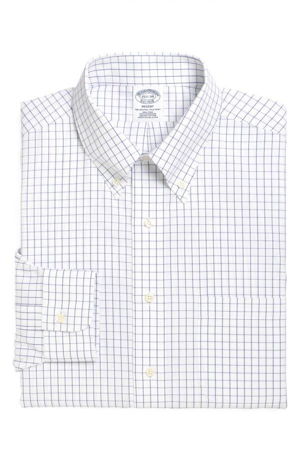 Men's Brooks Brothers Regular Fit Check Dress Shirt (3 For $207)