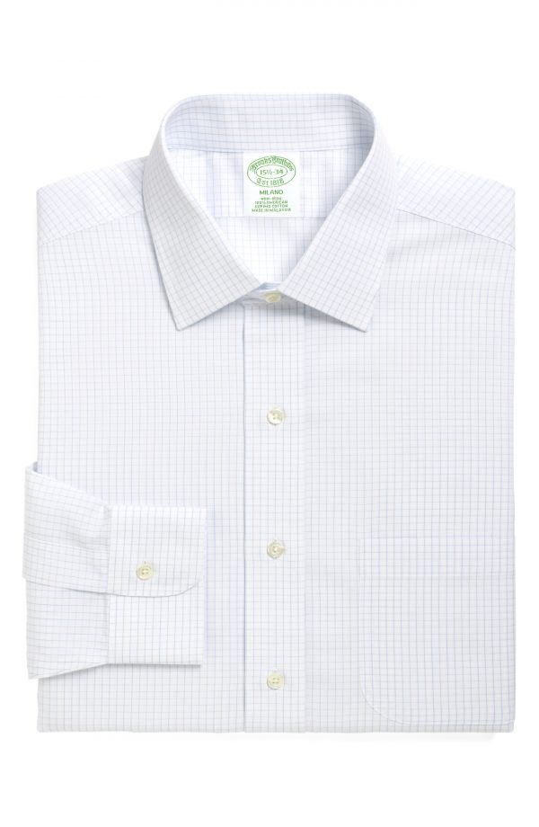 Men's Brooks Brothers Trim Fit Check Dress Shirt (3 For $207)