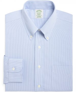 Men's Brooks Brothers Trim Fit Houndstooth Dress Shirt (3 For $207)