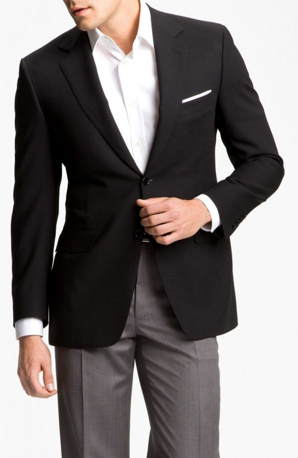Men's Canali Classic Fit Solid Wool Blazer