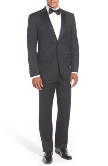 Men's David Donahue Classic Fit Loro Piana Wool Notch Lapel Tuxedo