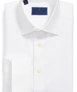 Men's David Donahue Regular Fit Texture French Cuff Dress Shirt