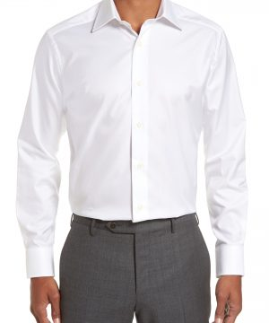 Men's David Donahue Slim Fit Solid Dress Shirt