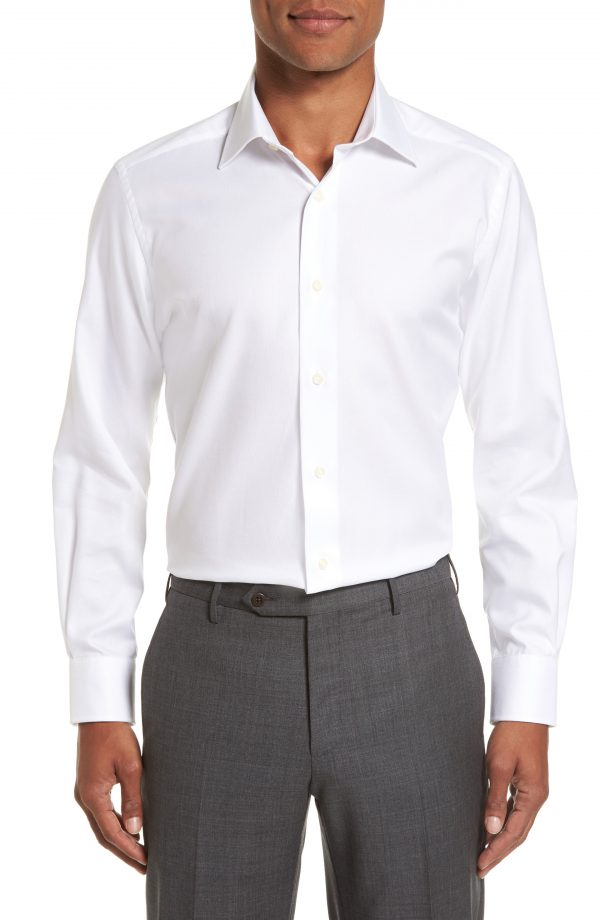 Men's David Donahue Trim Fit Dress Shirt