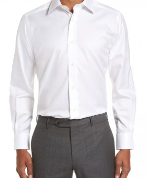 Men's David Donahue Trim Fit Solid Dress Shirt