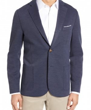 Men's Eleventy Trim Fit Jersey Blazer