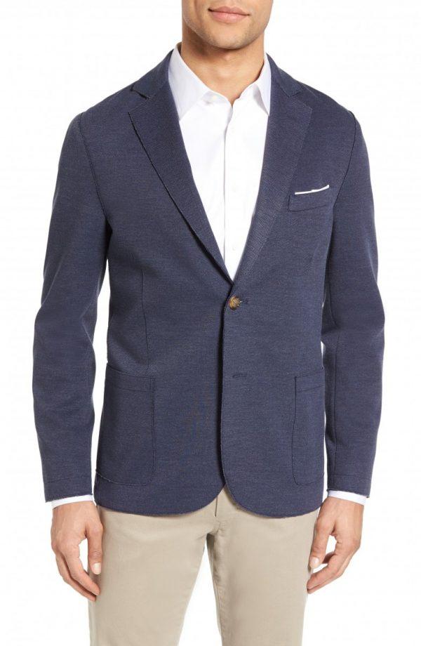 Men's Eleventy Trim Fit Jersey Blazer
