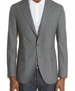 Men's Eleventy Trim Fit Wool Blazer