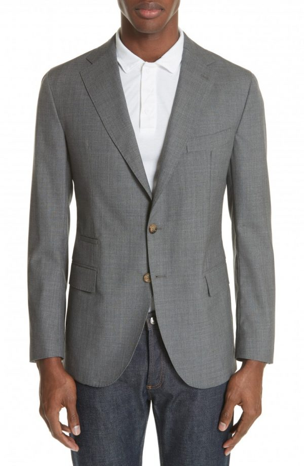 Men's Eleventy Trim Fit Wool Blazer
